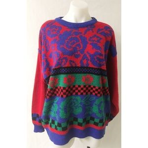Red/Blue Vintage Sweater Size XL